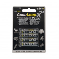 AccuLoop 1100 mAh AAA NiMH Rechargeable Batteries Precharged