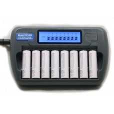 DC1208 8 Bank AA - AAA NiMH NiCd LCD Battery Charger